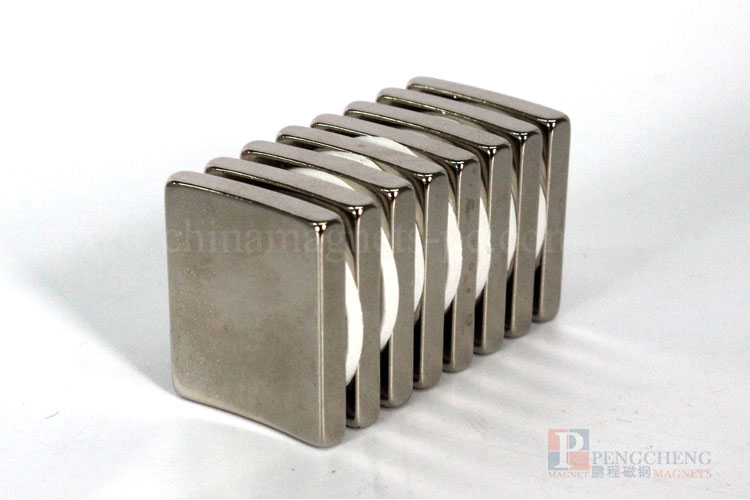 35SH Nickel Coated Neodymium magneet Arc, PC-0008