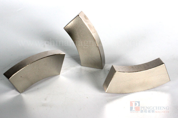 38SH Nickel Coated Neodymium magneet Arc, PC-0003