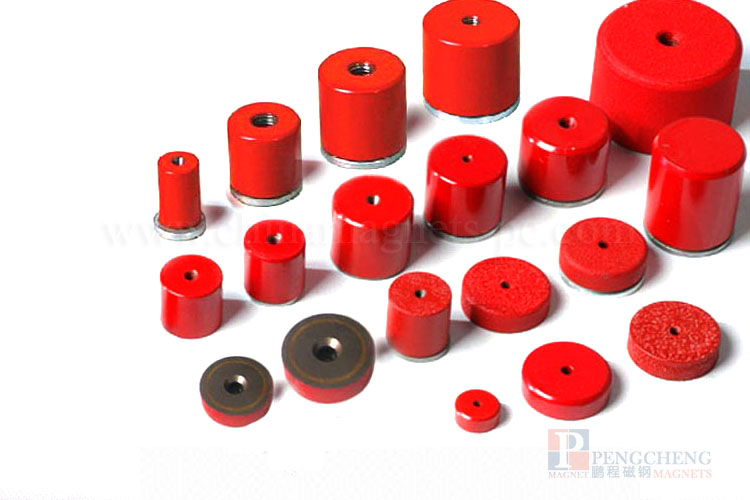 FLN8 Spray Paint AlNiCo Countersunk Magnet, PC-0094