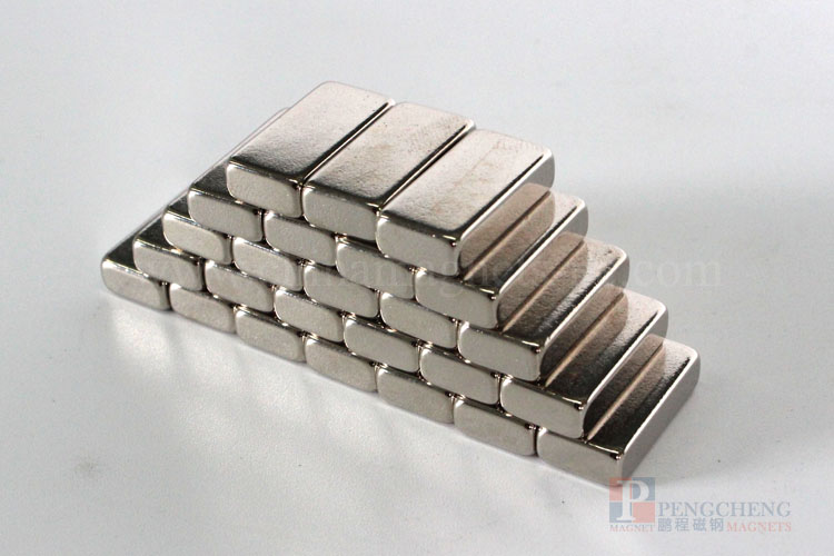 N35 Nickel Coated Neodymium Block Magnet, PC-0107