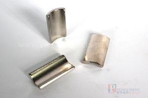 35SH Nickel Coated Neodymium magneet Arc