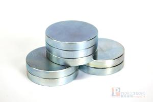 42H Zinc Coated Neodymium Disc Magnet