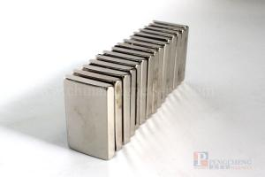 N33 Nickel Coated Neodymium Arc Magnet