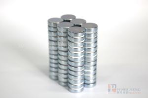 N38 Zinc Coated Neodymium Disc Magnet