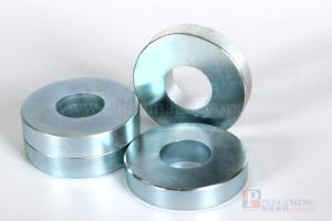 N45 Zinc Coated Neodymium Ring Magnet