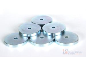 N48 Zinc Coated Neodymium Ring Magnet